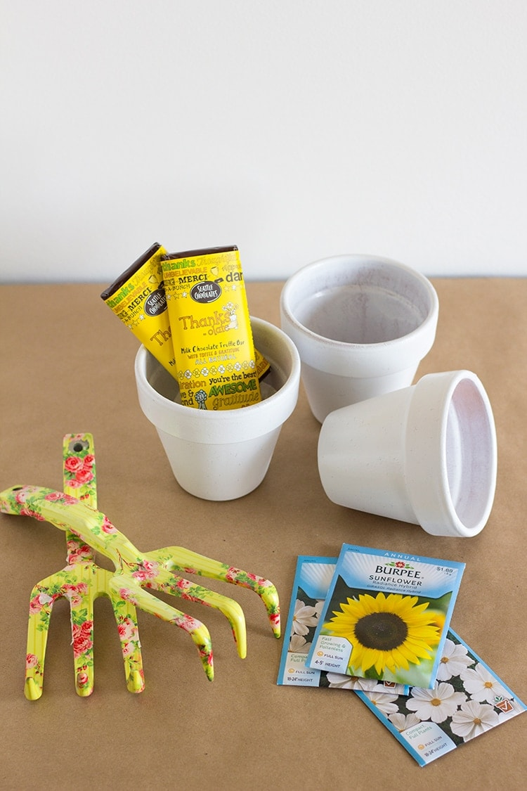 Diy thank you flower pots for Pot painting materials required