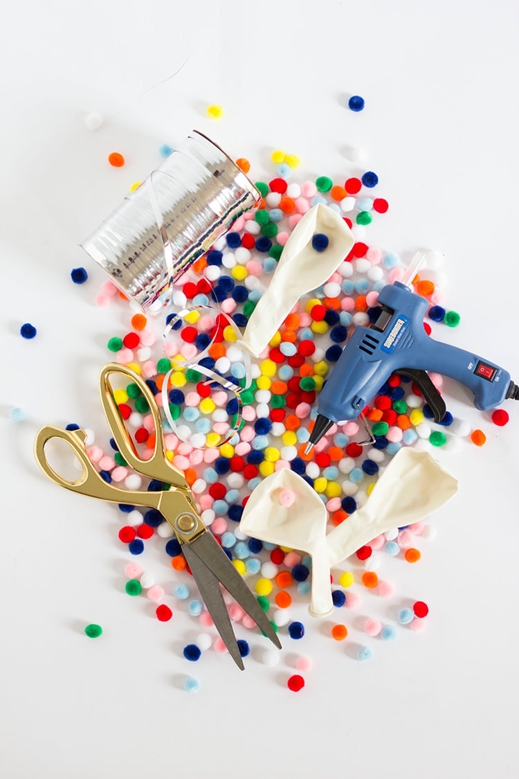 DIY Pom Pom Balloon Supplies
