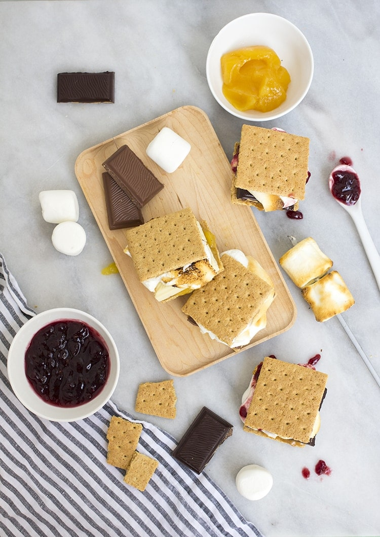 Fancy Smores Three Ways