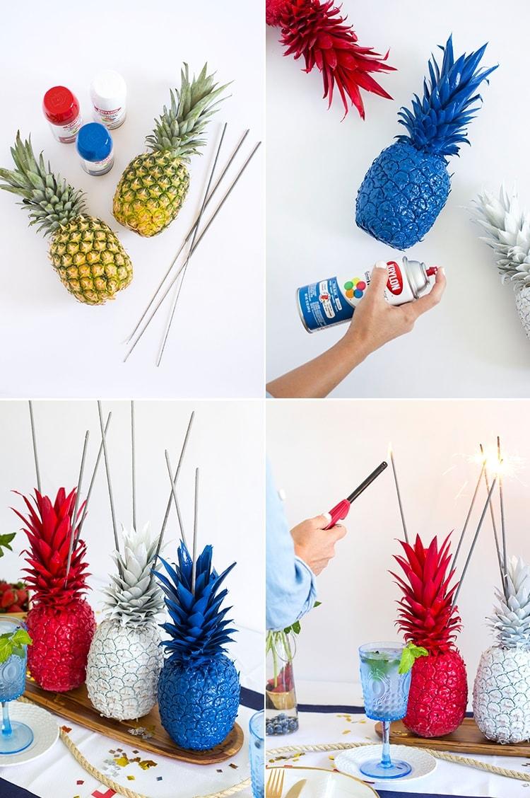 Pineapple Sparkler Center Pieces