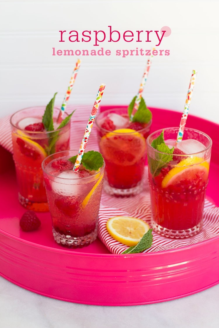 Raspberry Lemonade Spritzers