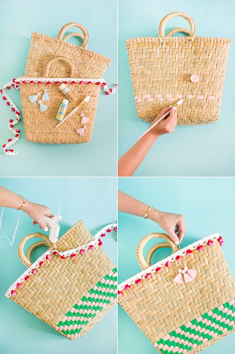 DIY Painted Beach Bags