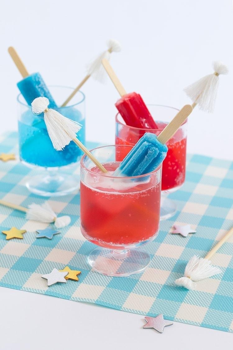 Fourth Of July Tassel Stir Sticks Amp Popsicle Cocktails