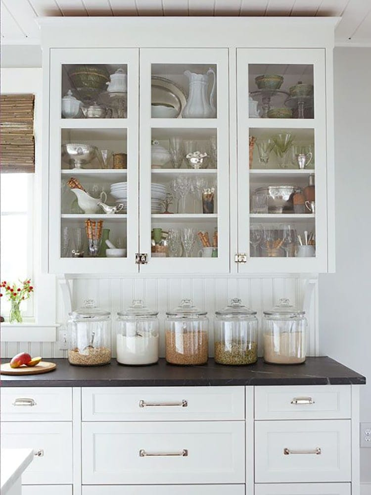 White Kitchen Food Cabinets With Door At Bottom