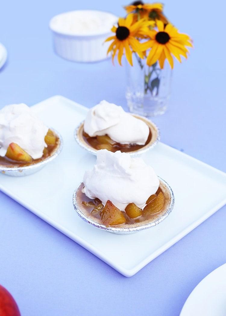 Mini Peach Bourbon Pies 5