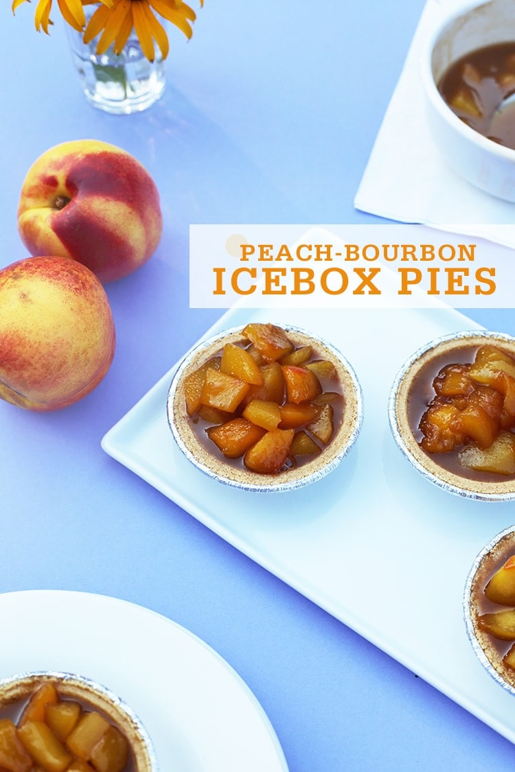 Peach Bourbon Icebox Pies