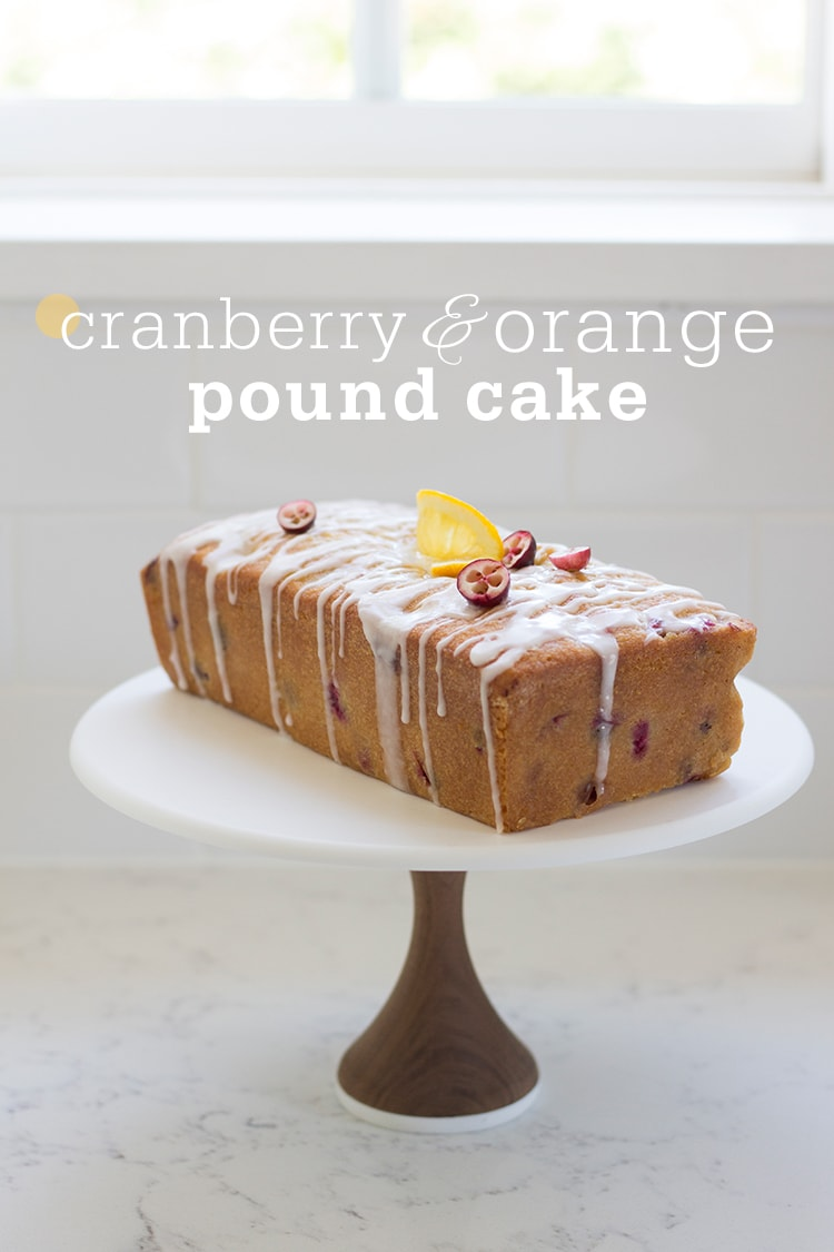 Cranberry Orange Pound Cake