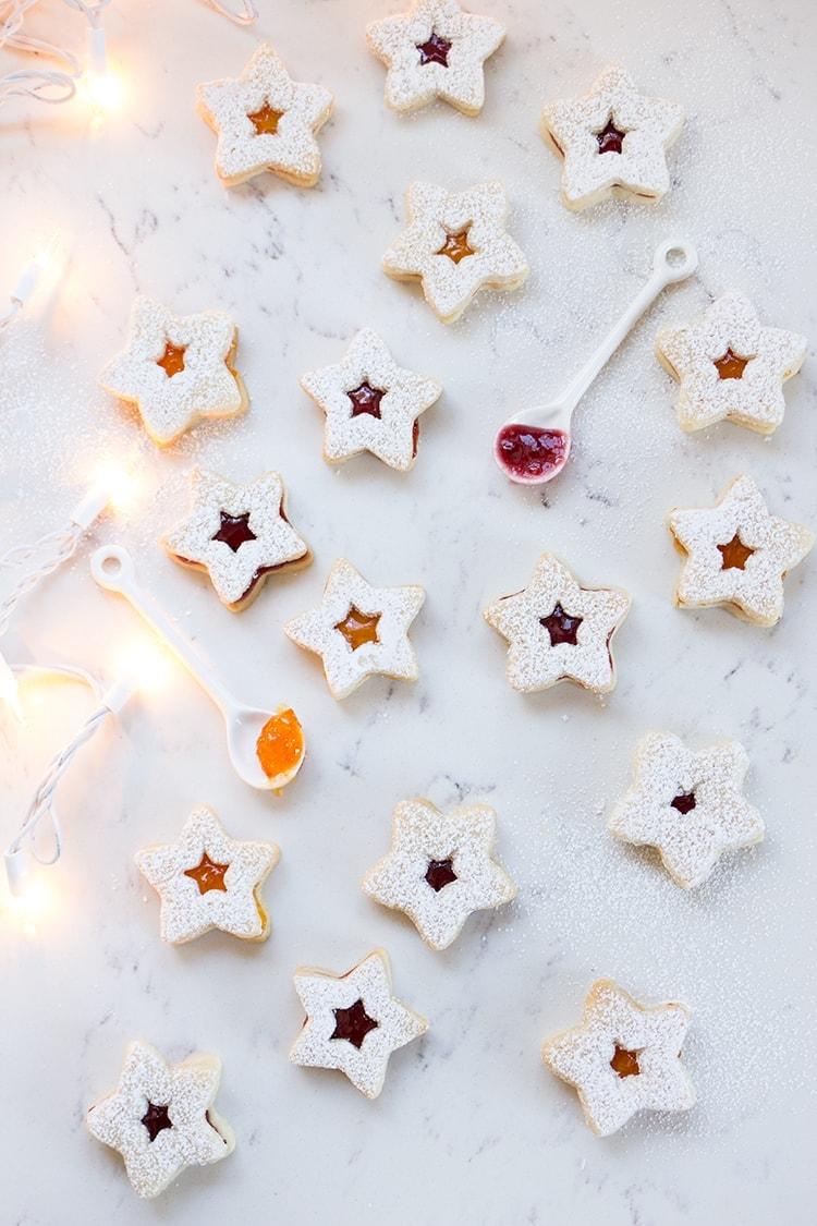 Linzer Christmas Cookies - Freutcake