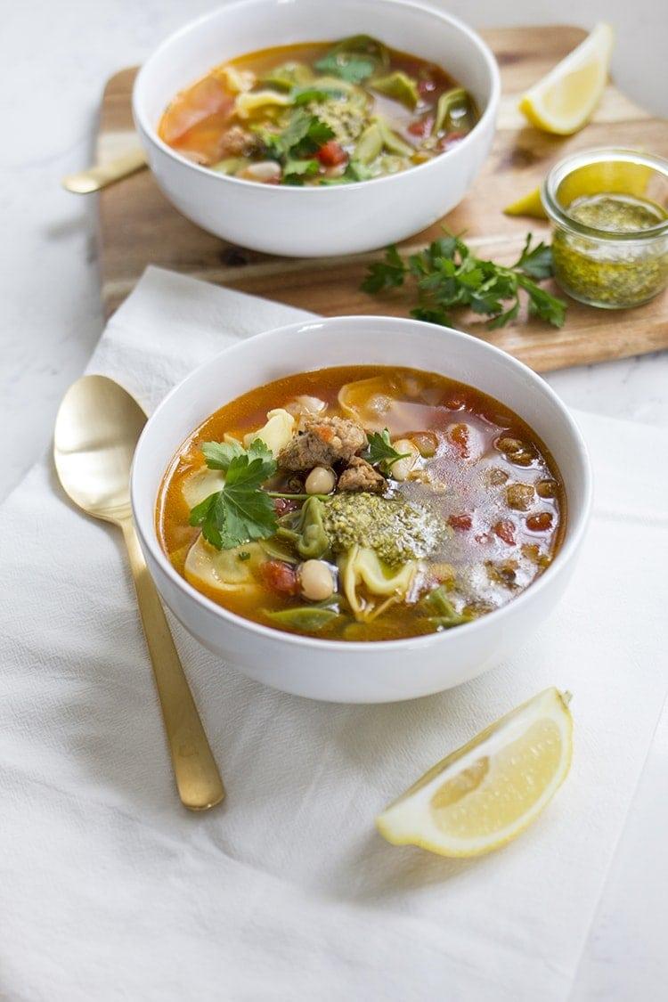 Sausage White Bean Tortellini Soup 6