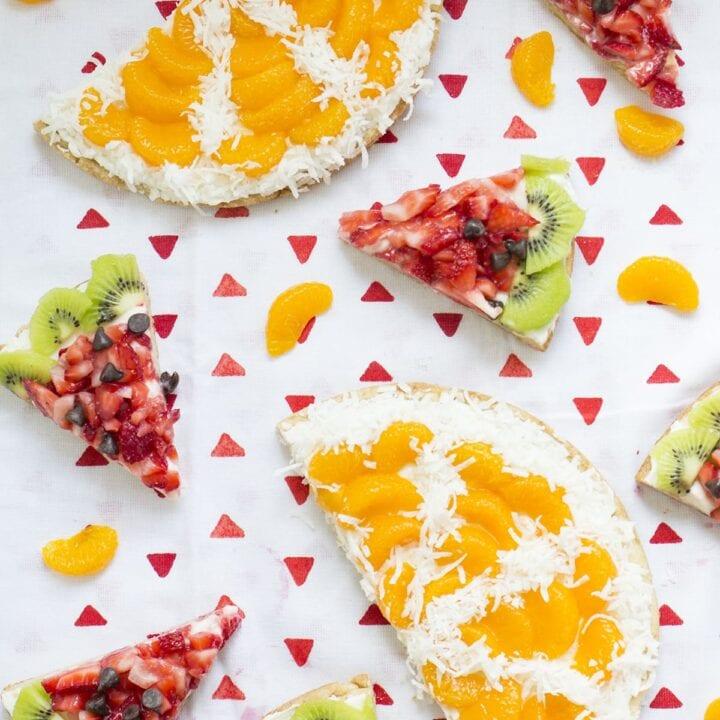 Sugar Cookie Fruit Pizzas