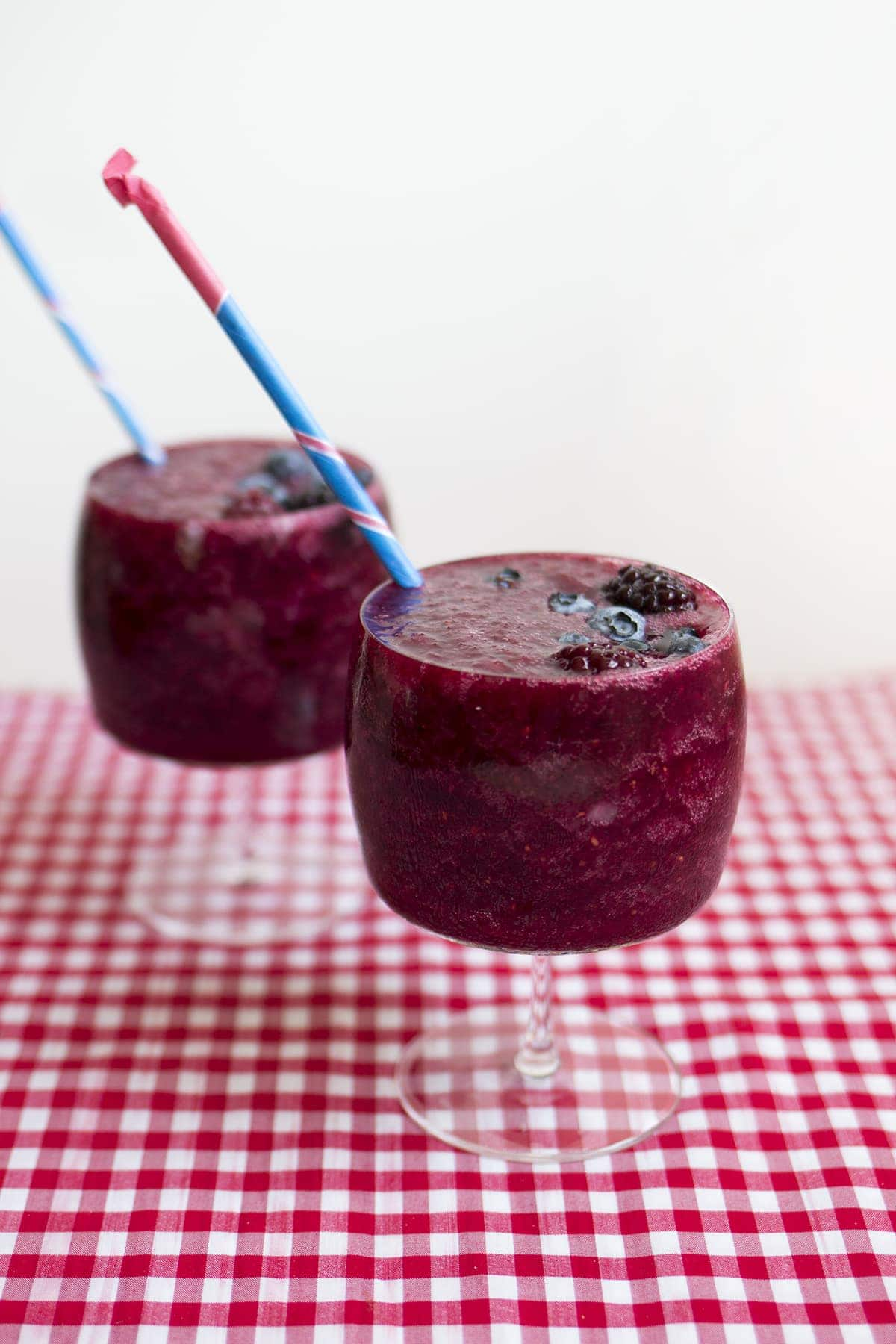 Mixed Berry Wine Slushies