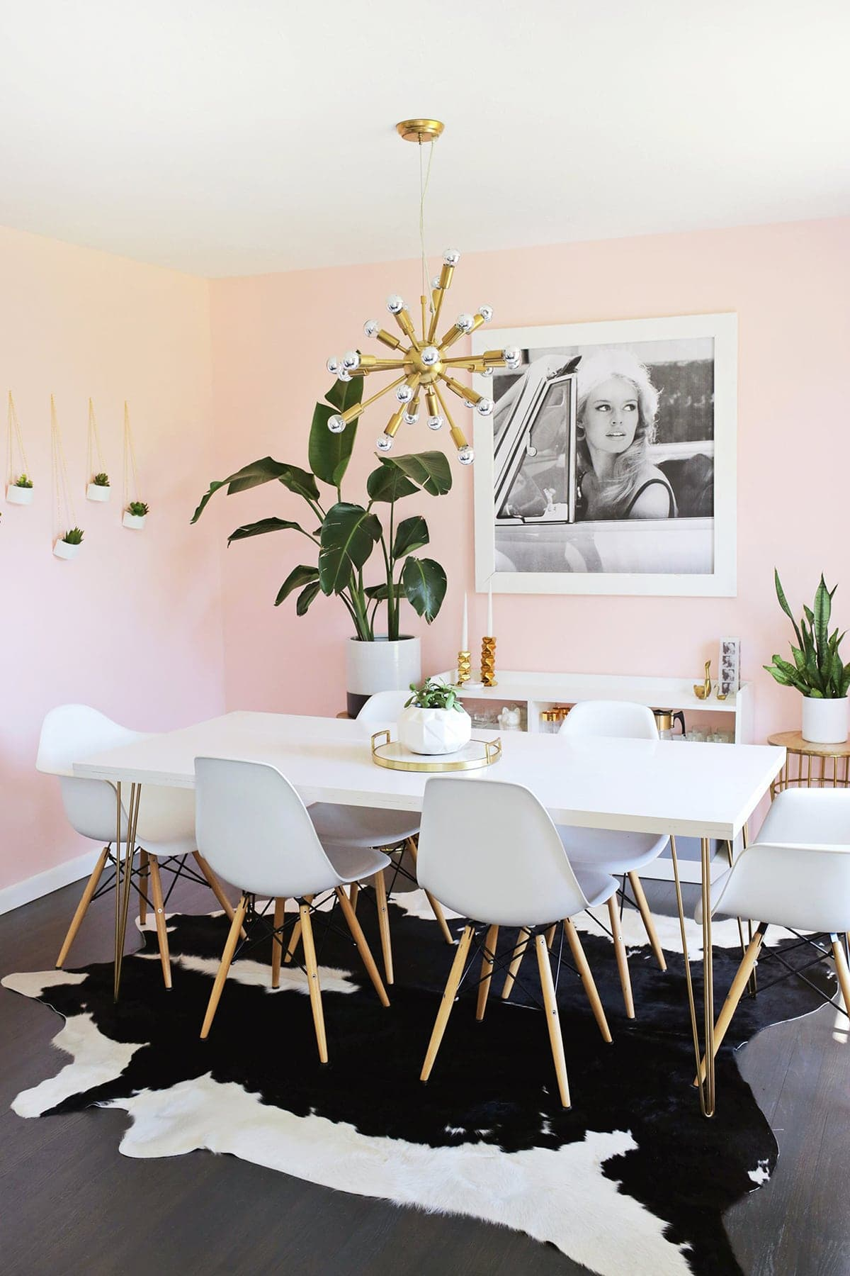 Dining Room: A Pale Pink Dining Room
