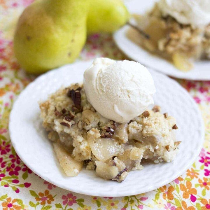 Apple Pear Dump Cake