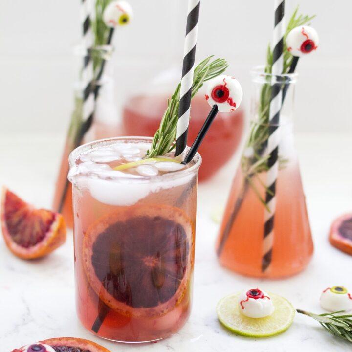 Blood Orange Monster Mash Margaritas for Halloween