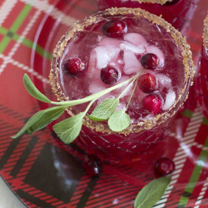 Cranberry Spice Margaritas