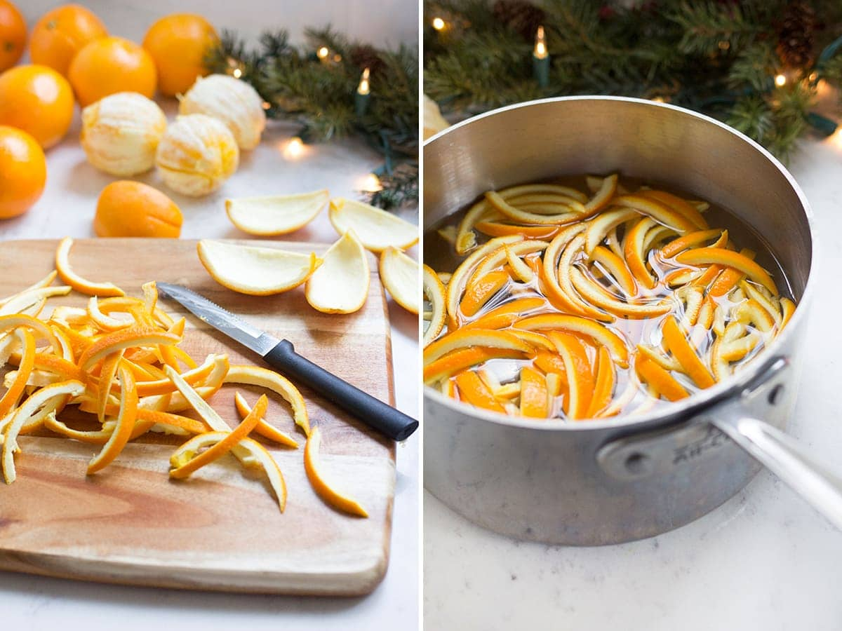 Chocolate Dipped Candied Orange Peels - Freutcake