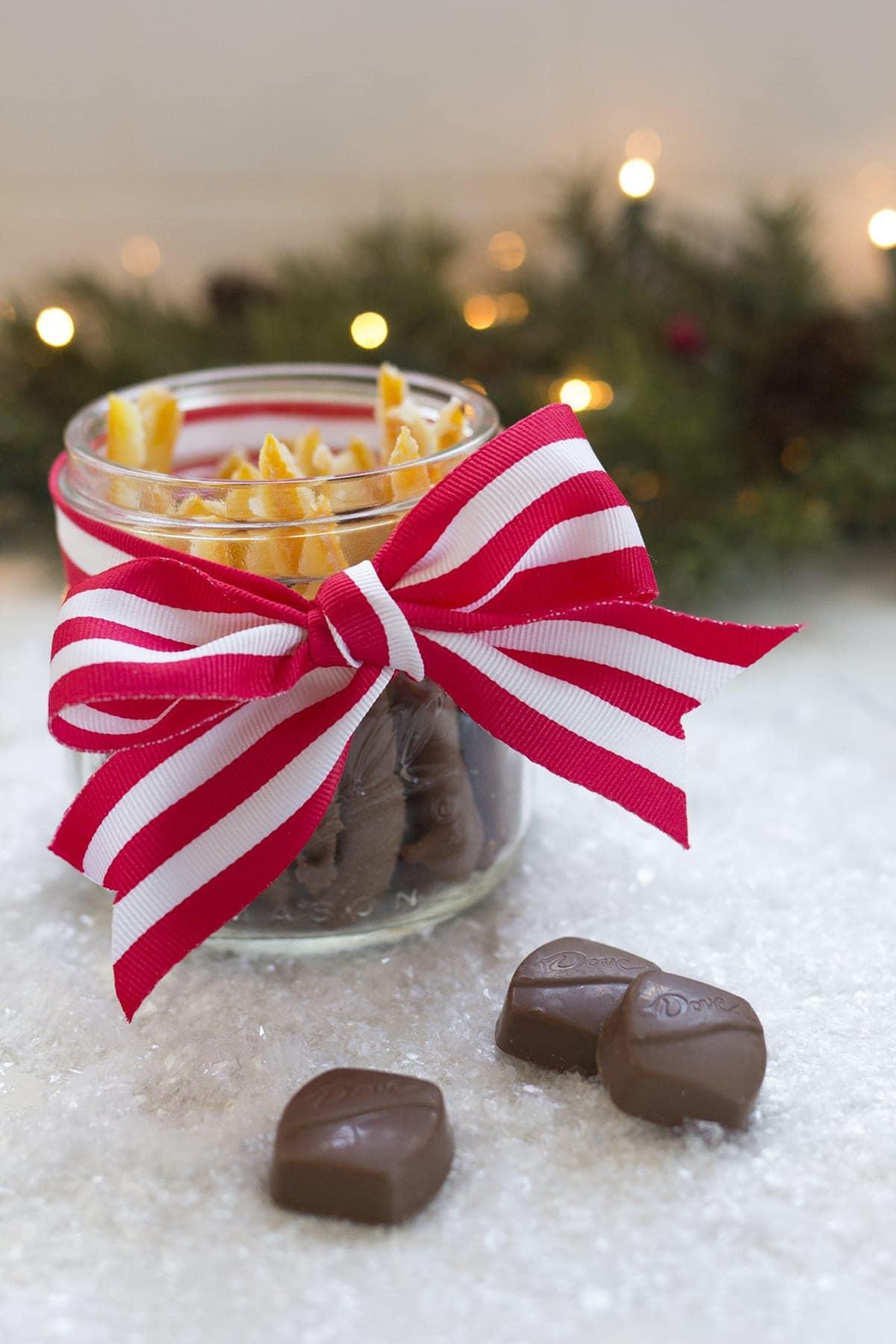 Chocolate Dipped Candied Orange Peels