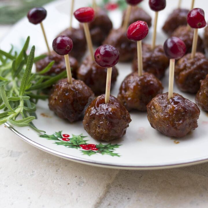 Cranberry Barbeque Cocktail Meatballs