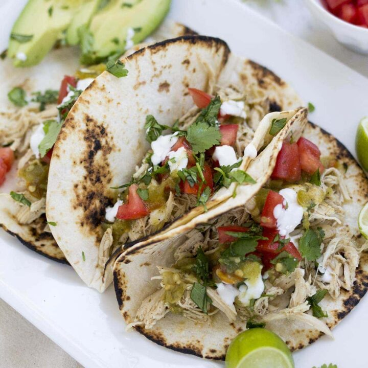 Crockpot Ranch Chicken Tacos