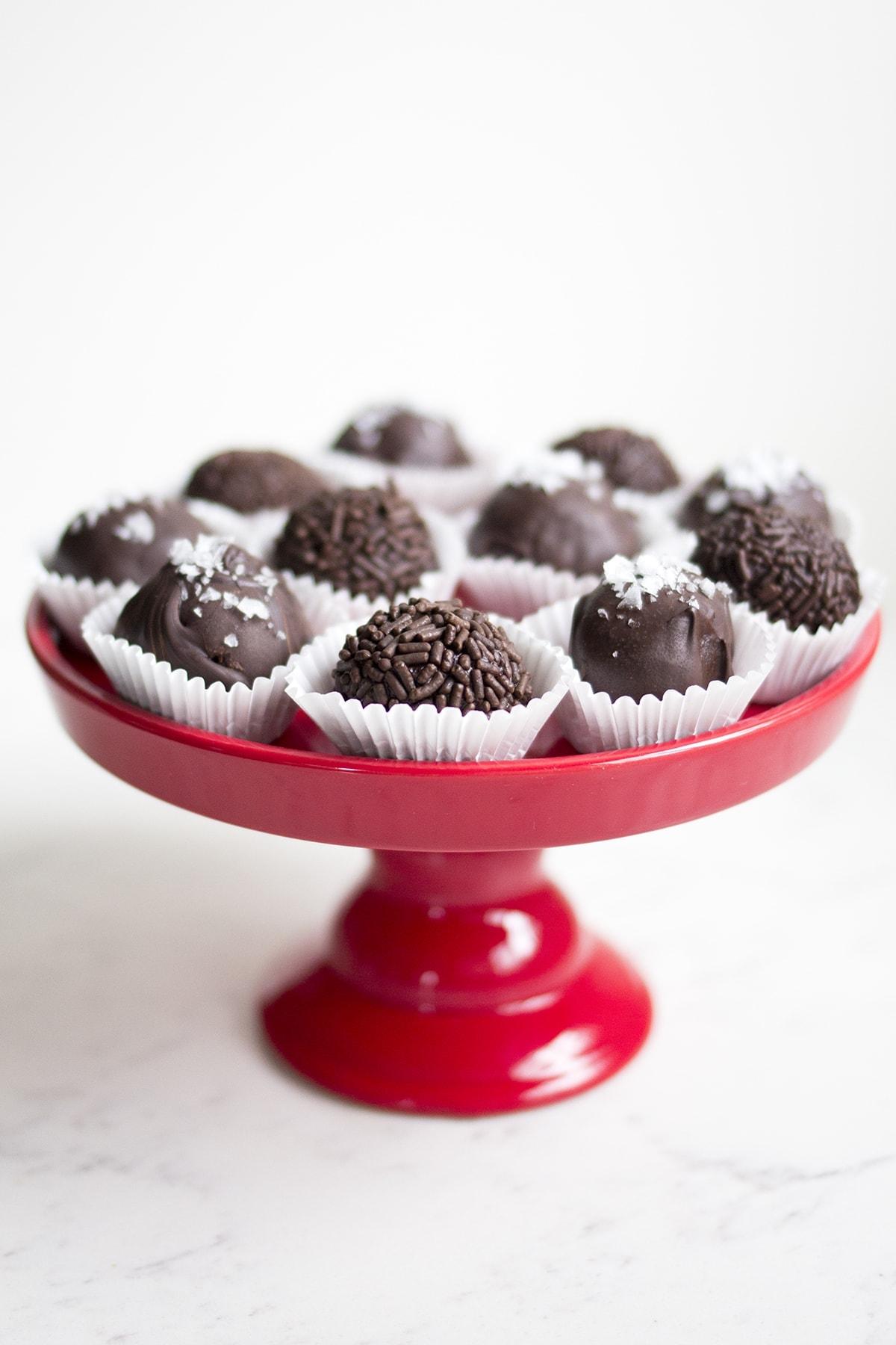 Salted Dark Chocolate Truffles