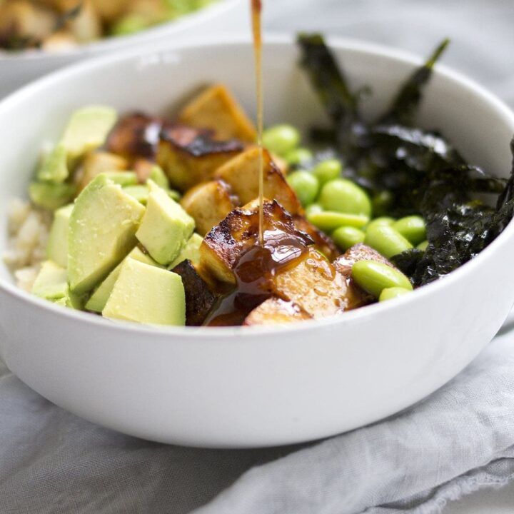 Sesame Ginger Tofu Rice Bowls