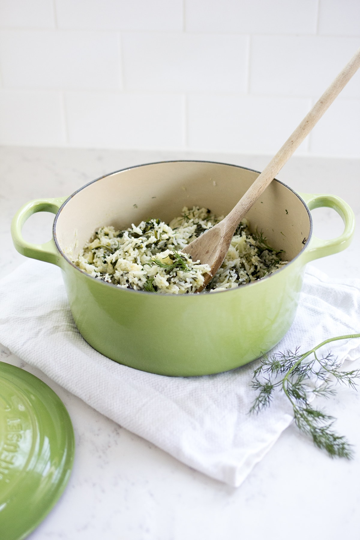 Spinach Dill Rice