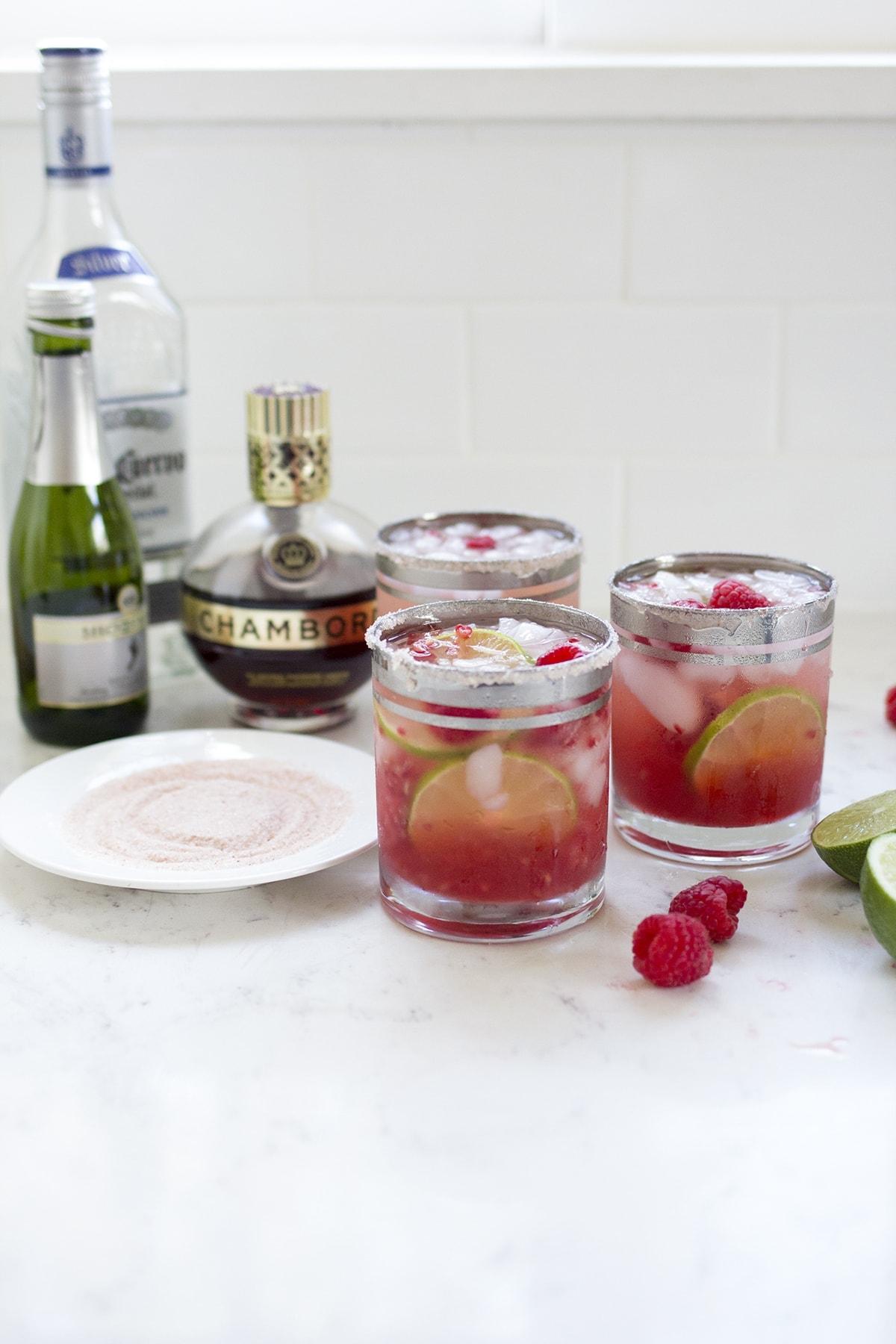 Sparkling Raspberry Margaritas