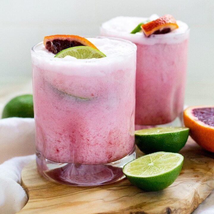 Coconut Blood Orange Margaritas