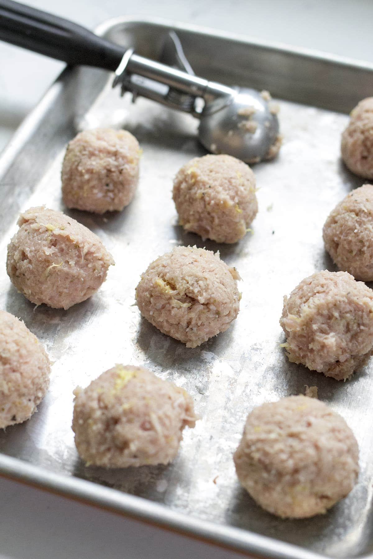 Greek Turkey Meatballs with Mint Feta Sauce