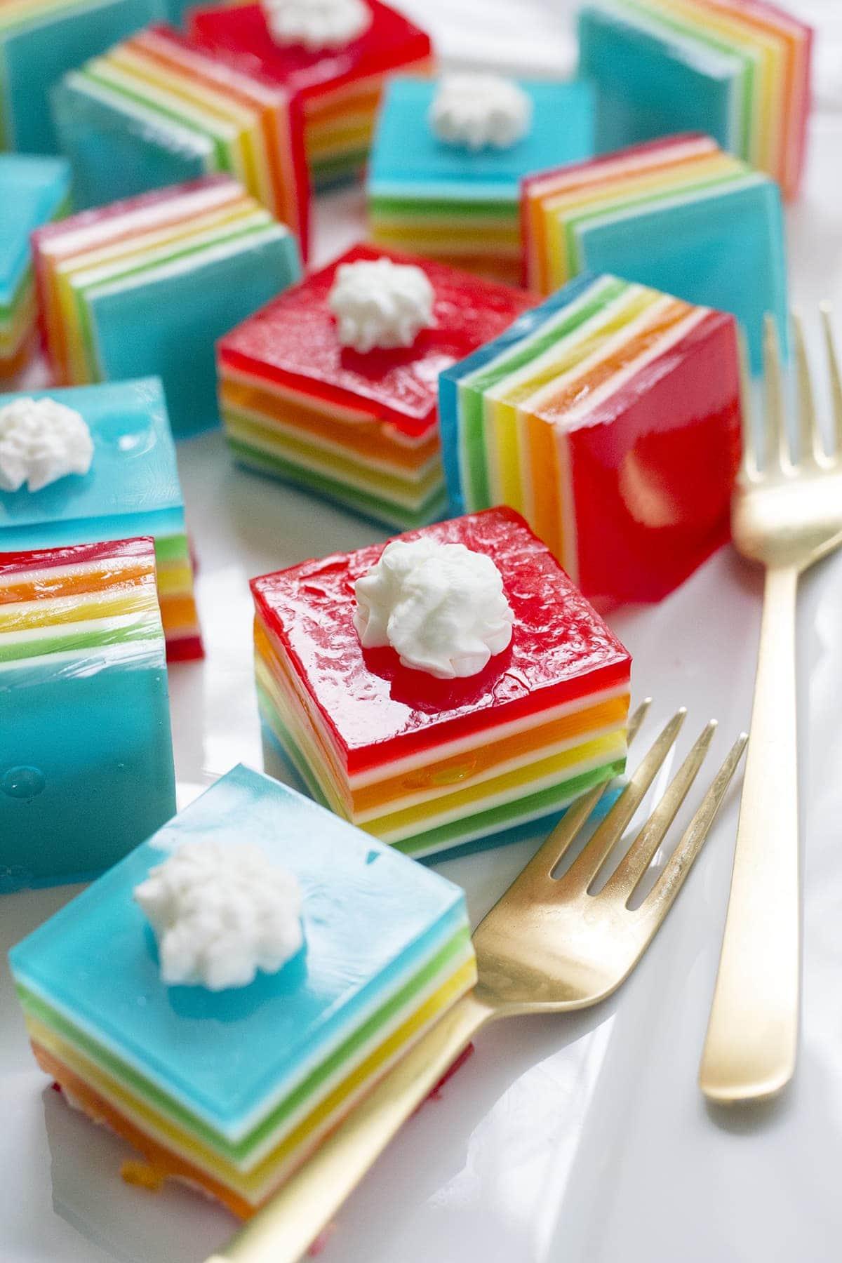 Rainbow Layer Jello