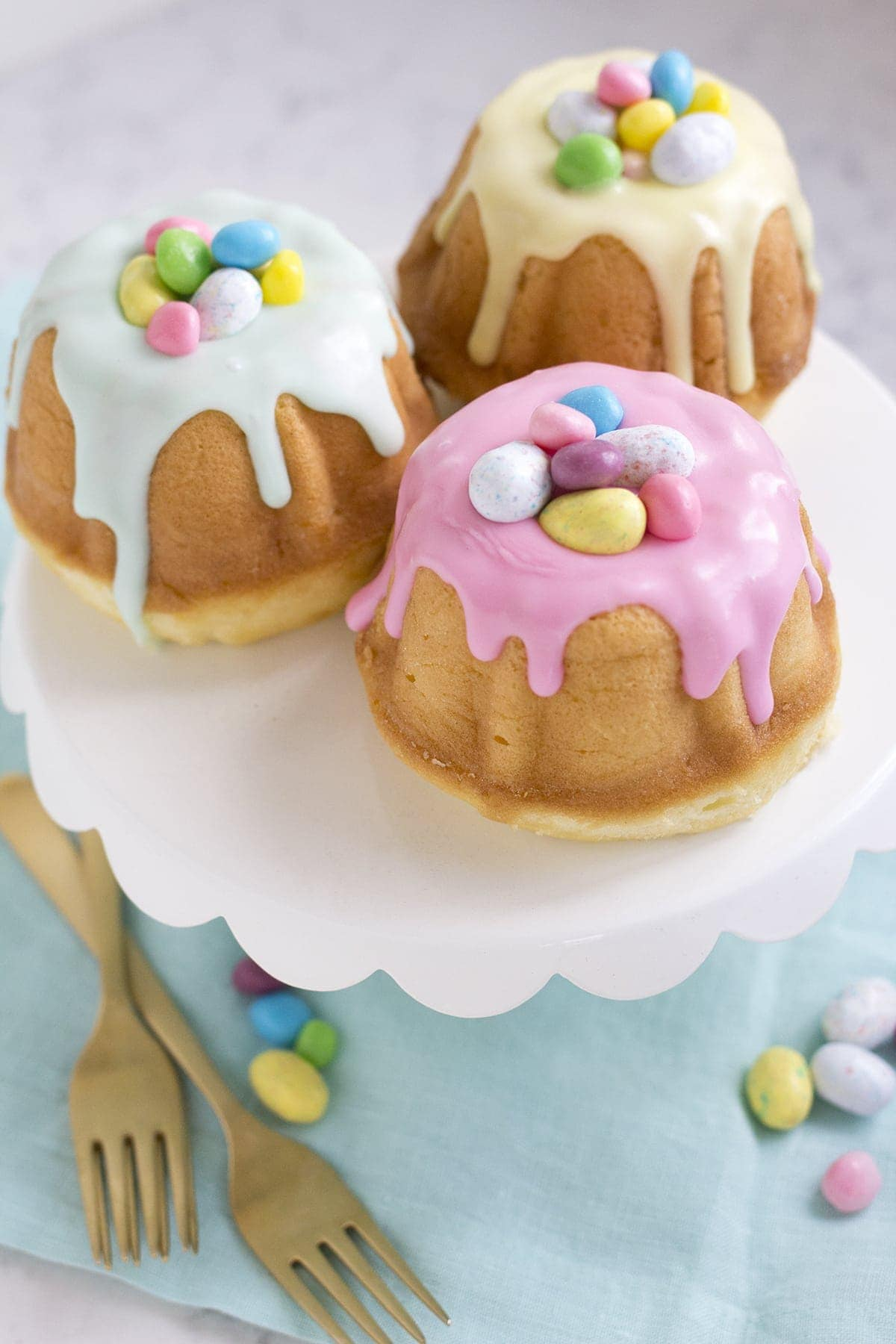 Surprise Inside Mini Easter Bundt Cakes