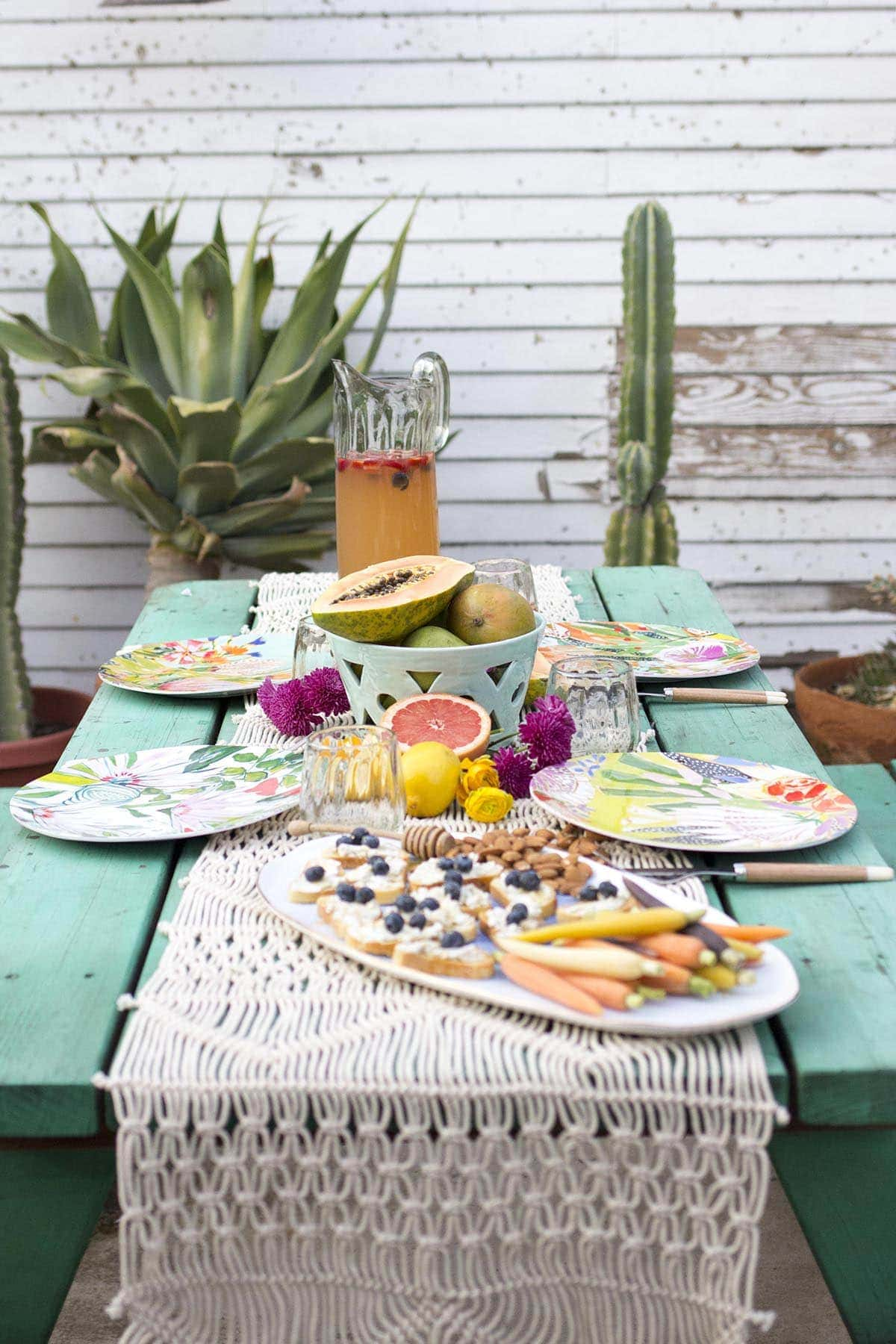 Outdoor Spring Entertaining with Anthropologie