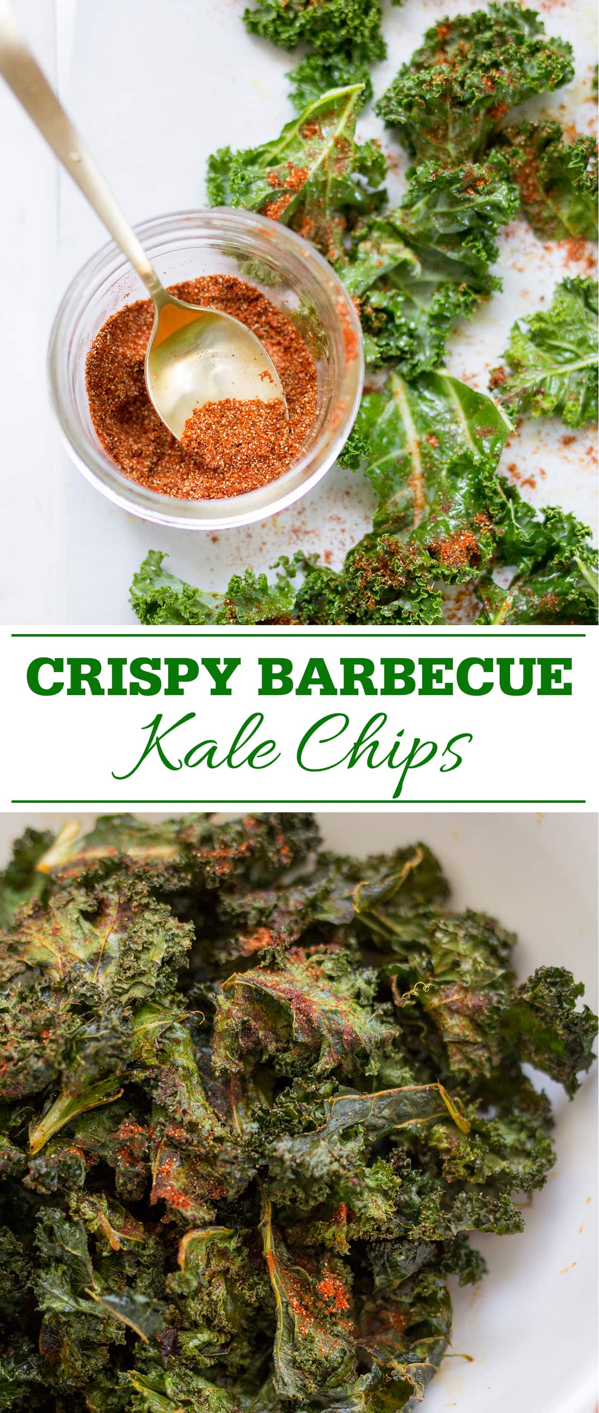 Crispy Barbecue Kale Chips Pin