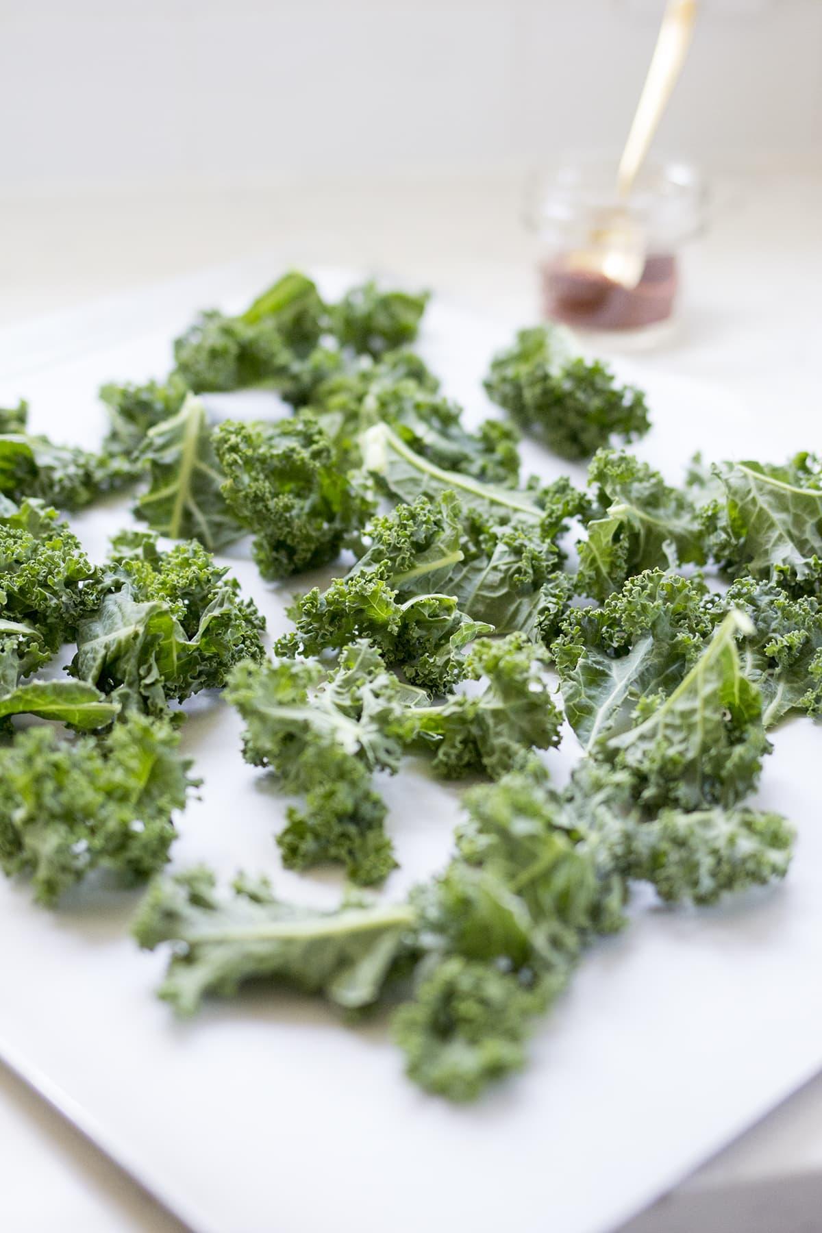 Crispy Barbecue Kale Chips