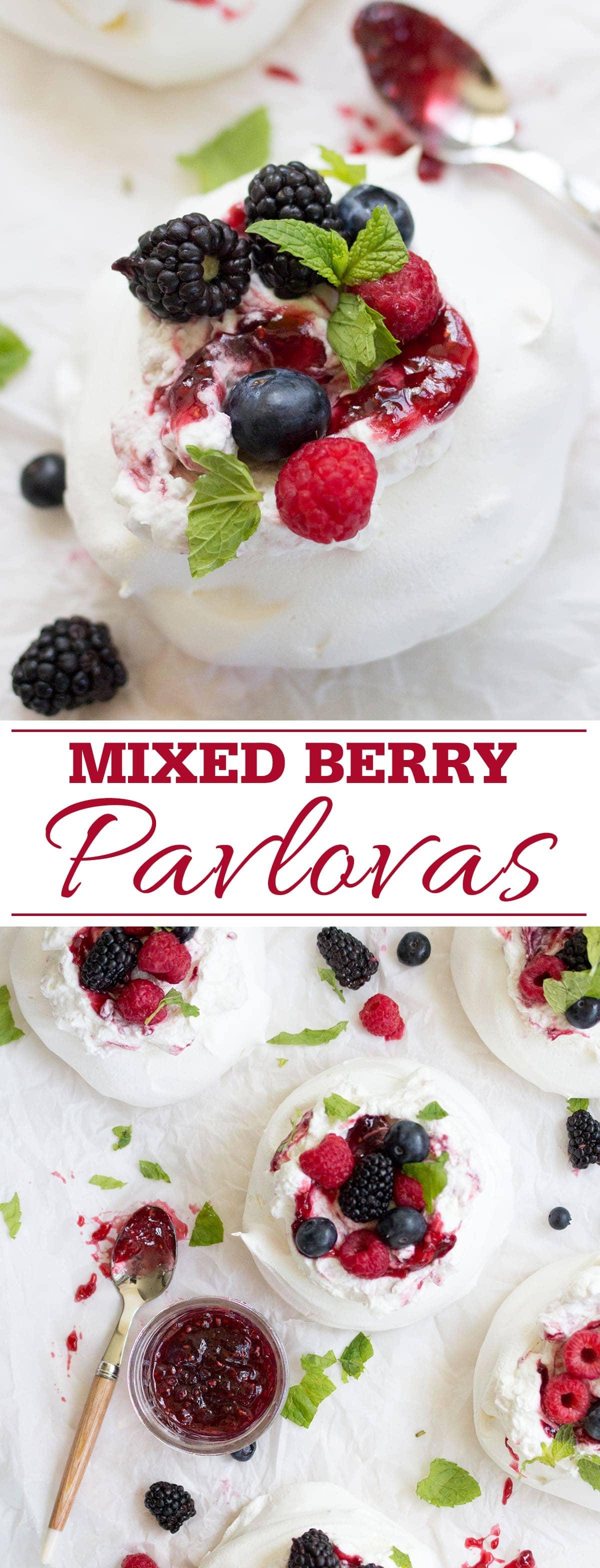 Mixed Berry Pavlovas