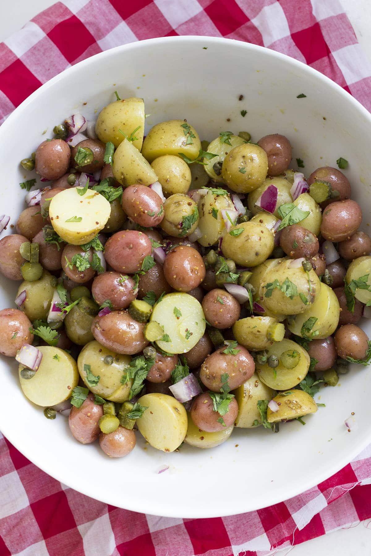 Warm Potato Salad - Freutcake