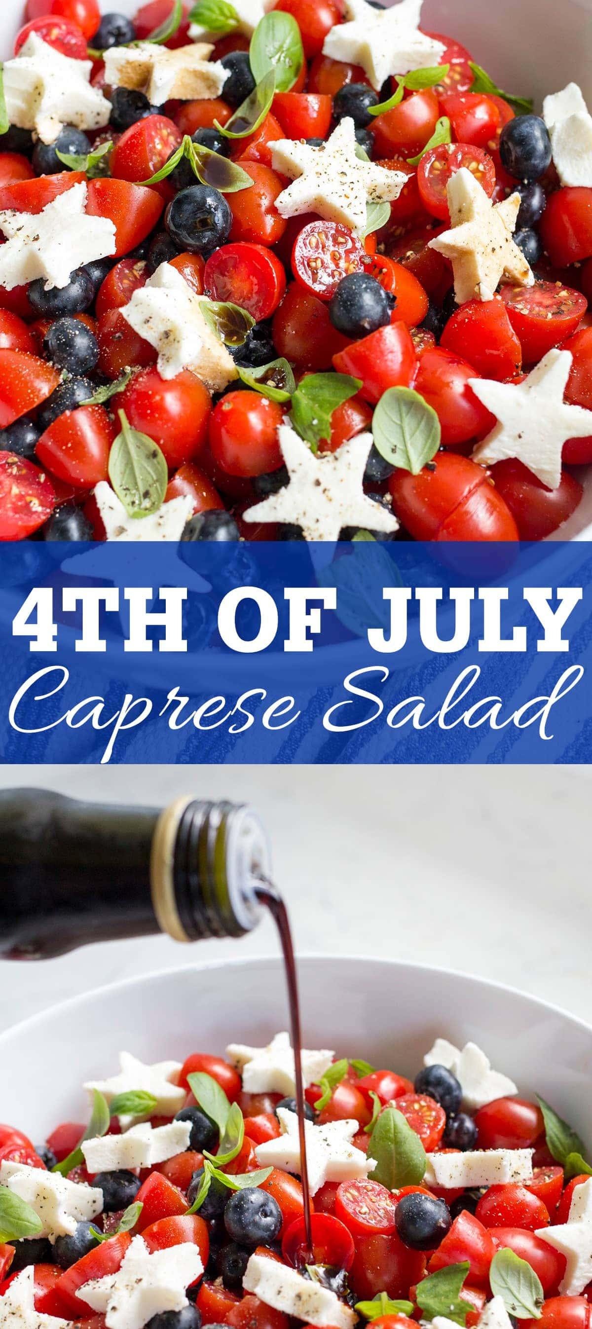 4th of July Caprese Salad