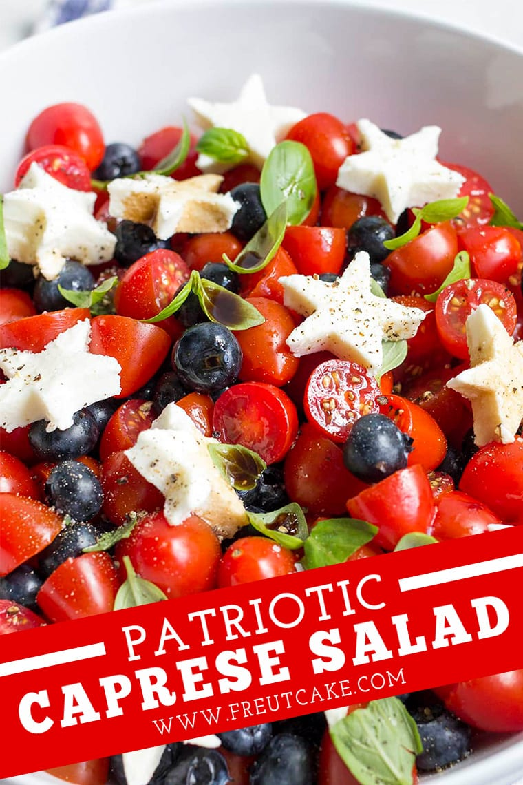 Red White and Blue CAPRESE SALAD