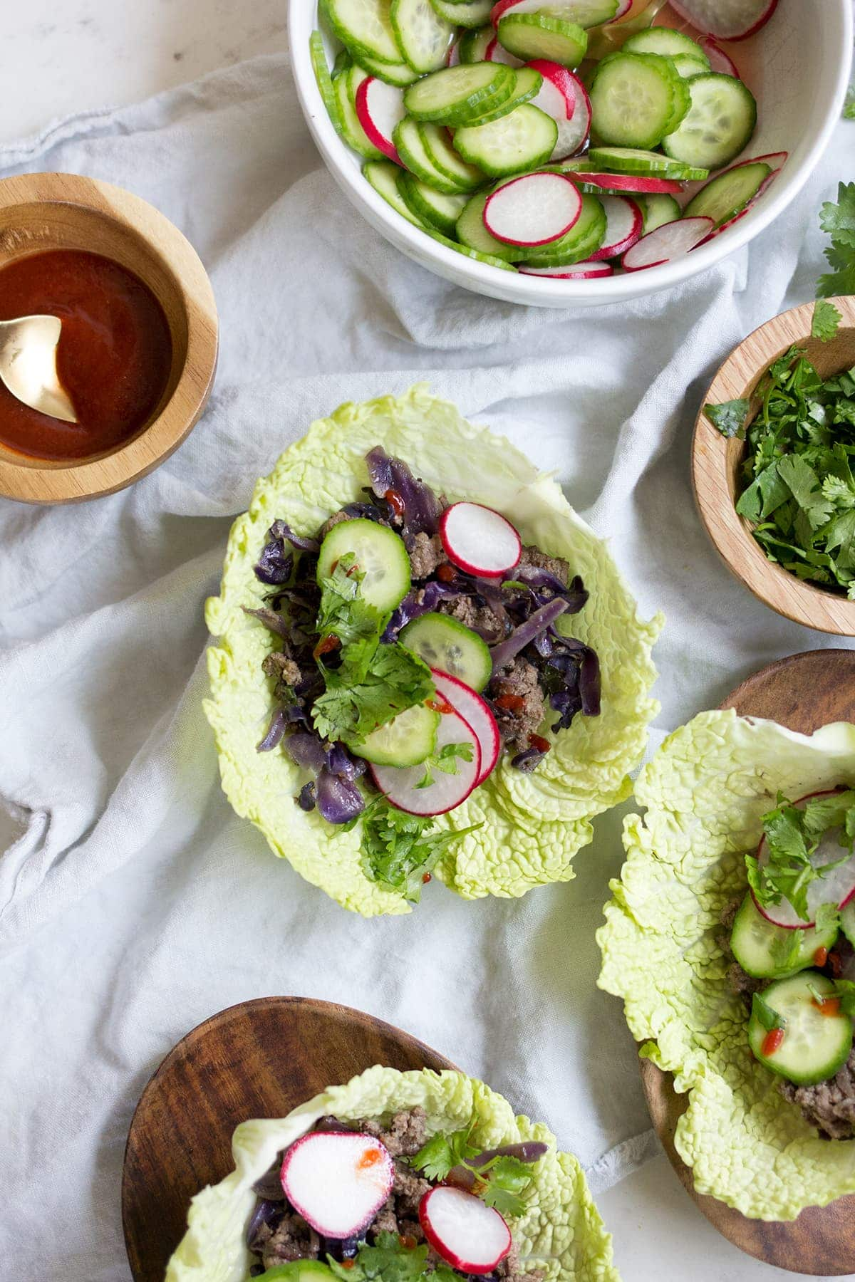 Asian Style Sesame Beef Tacos