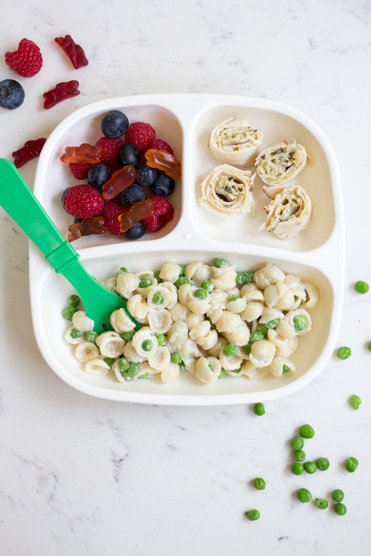 Mac and Peas Toddler Lunch