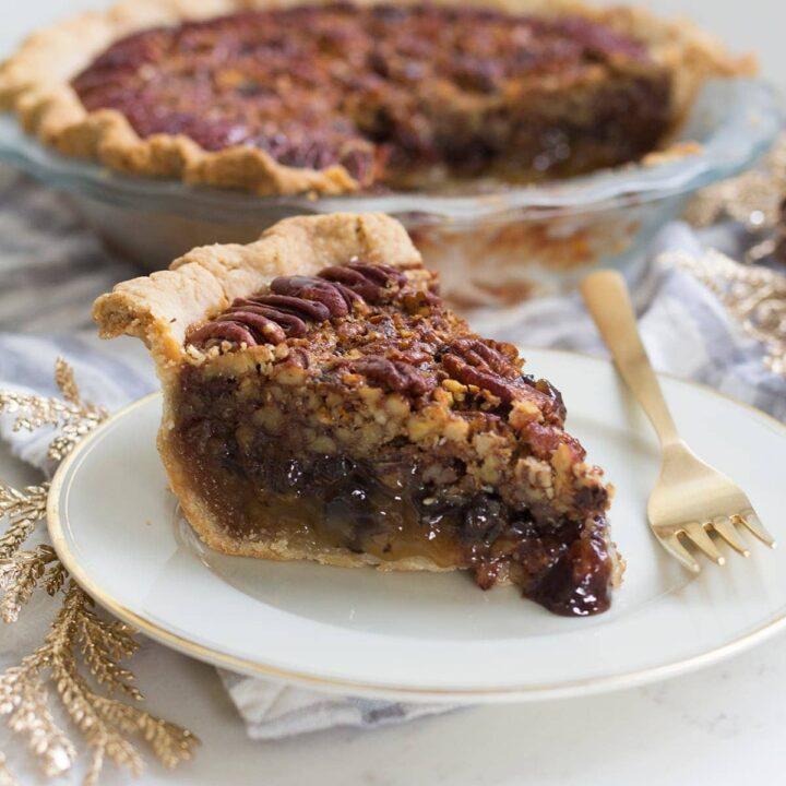 Dark Chocolate Pecan Pie