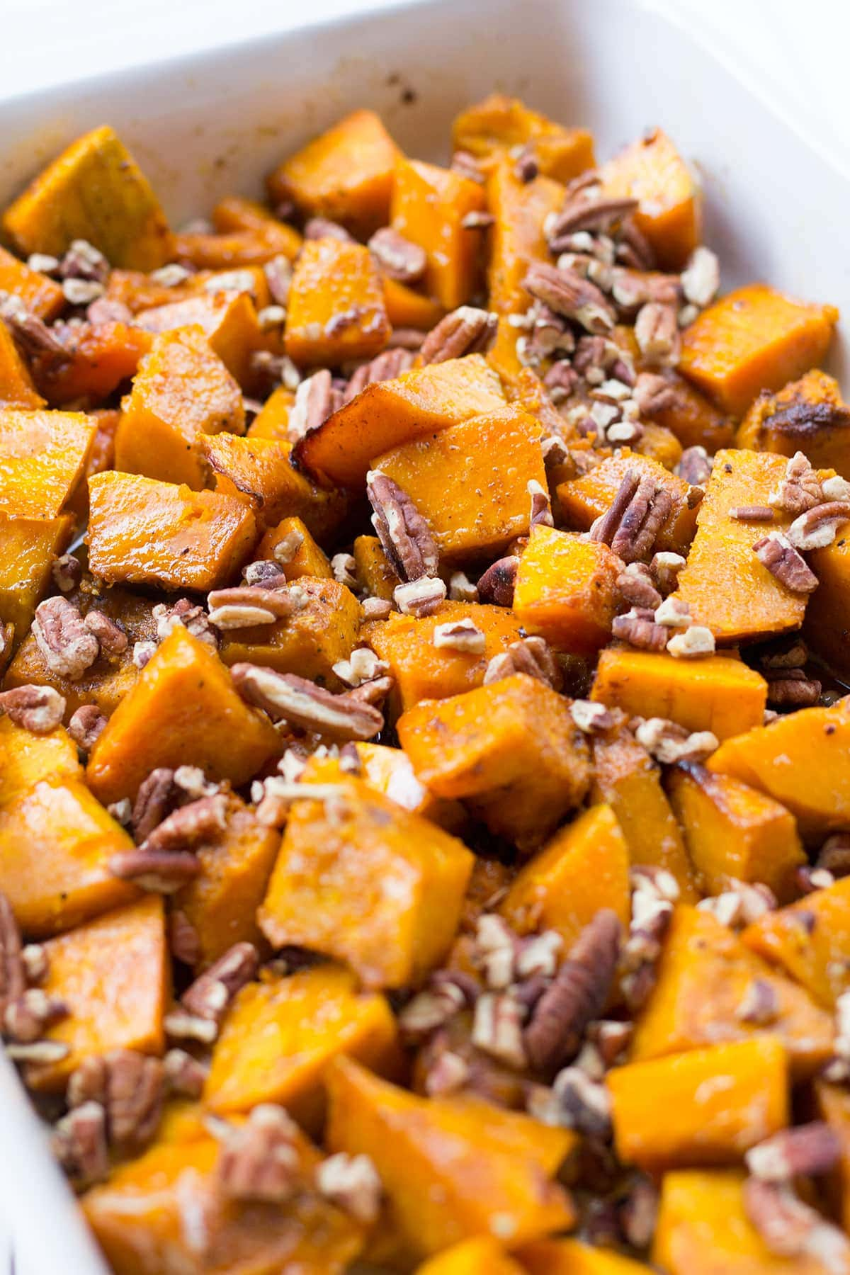 Roasted Kobucha Squash with Brown Butter, Marshmallows and Pecans