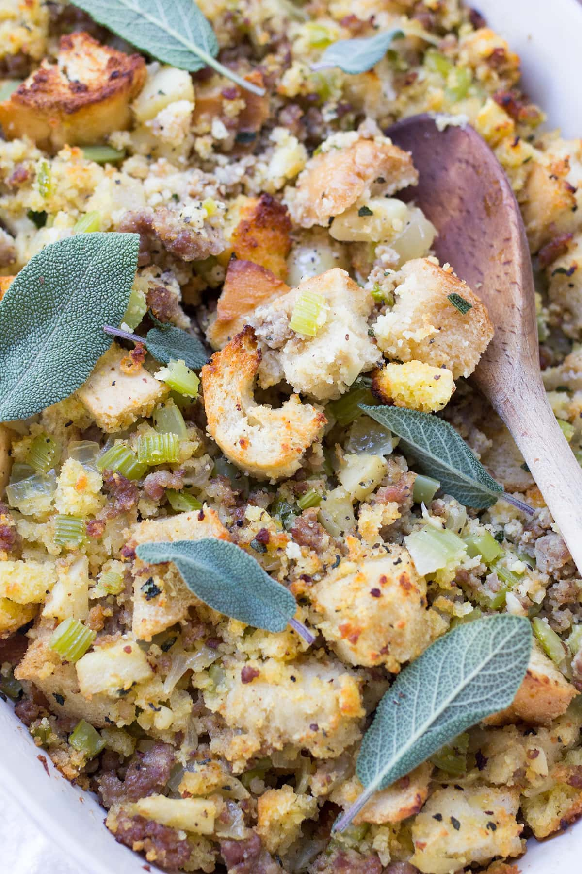 Stuffing with Sausage Apples and Sage