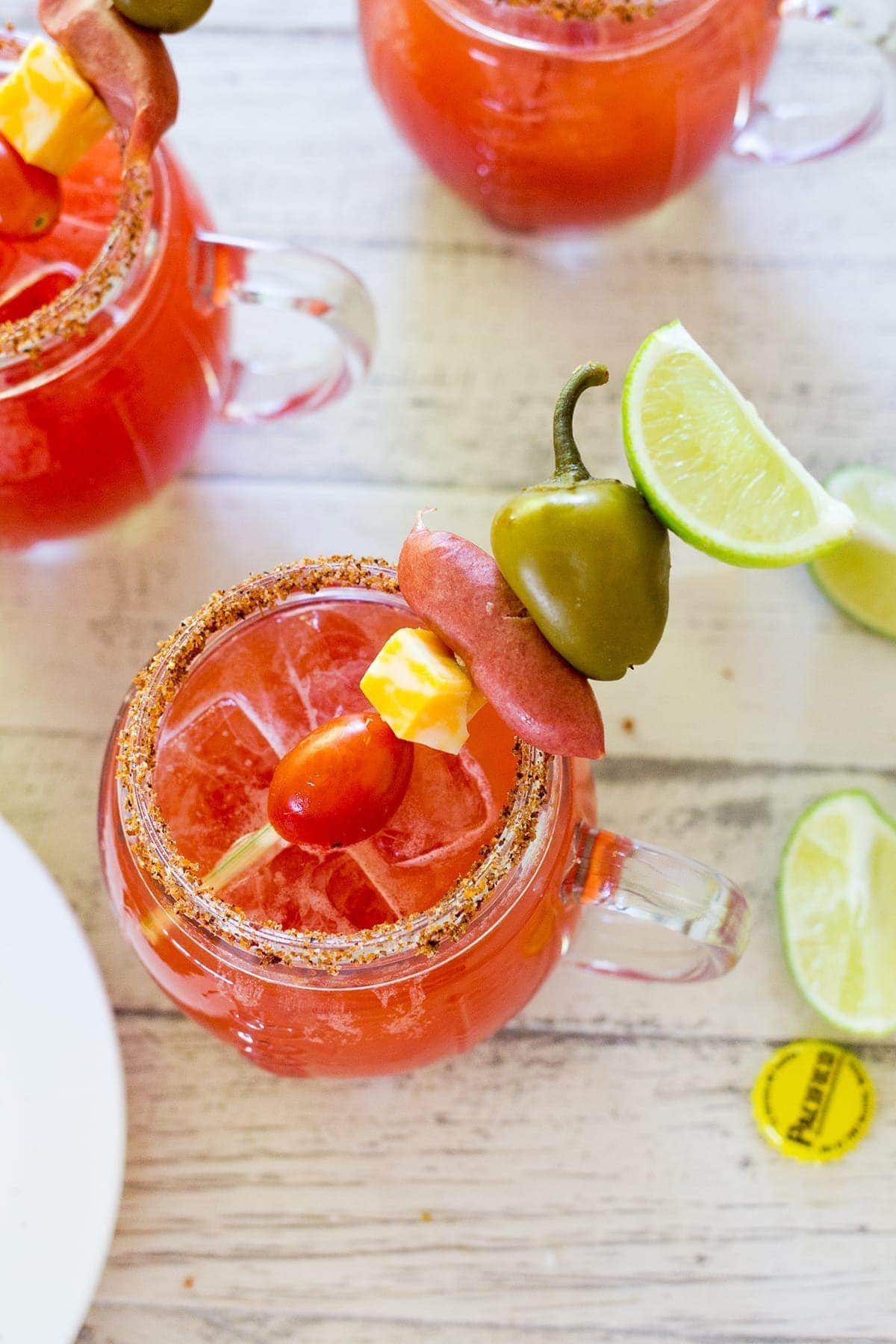Build Your Own Michelada Bar plus an Easy Michelada Recipe perfect for football parties.