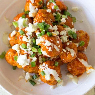 Buffalo Chicken Meatballs with Blue Cheese