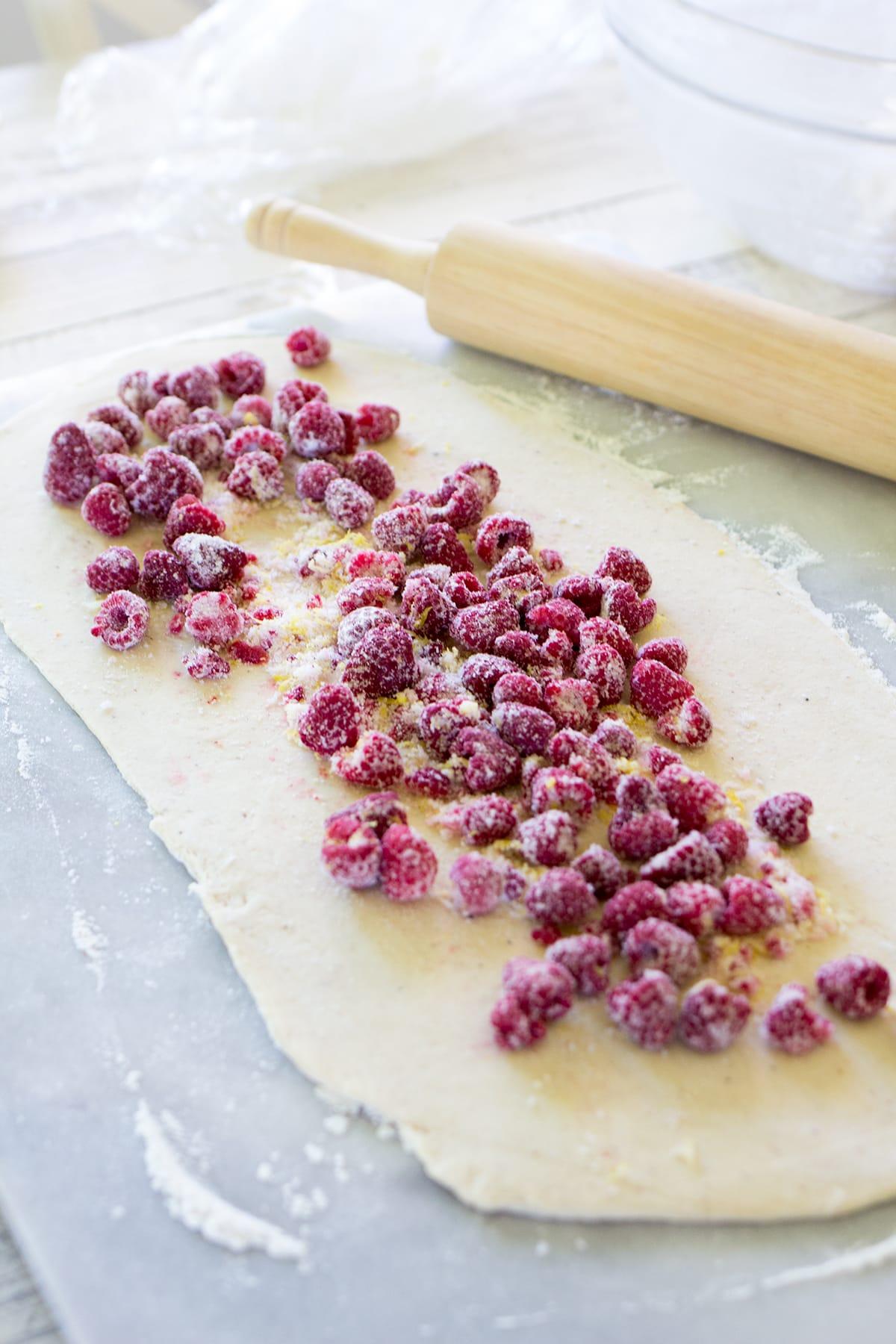 Raspberry Lemon Sweet Rolls