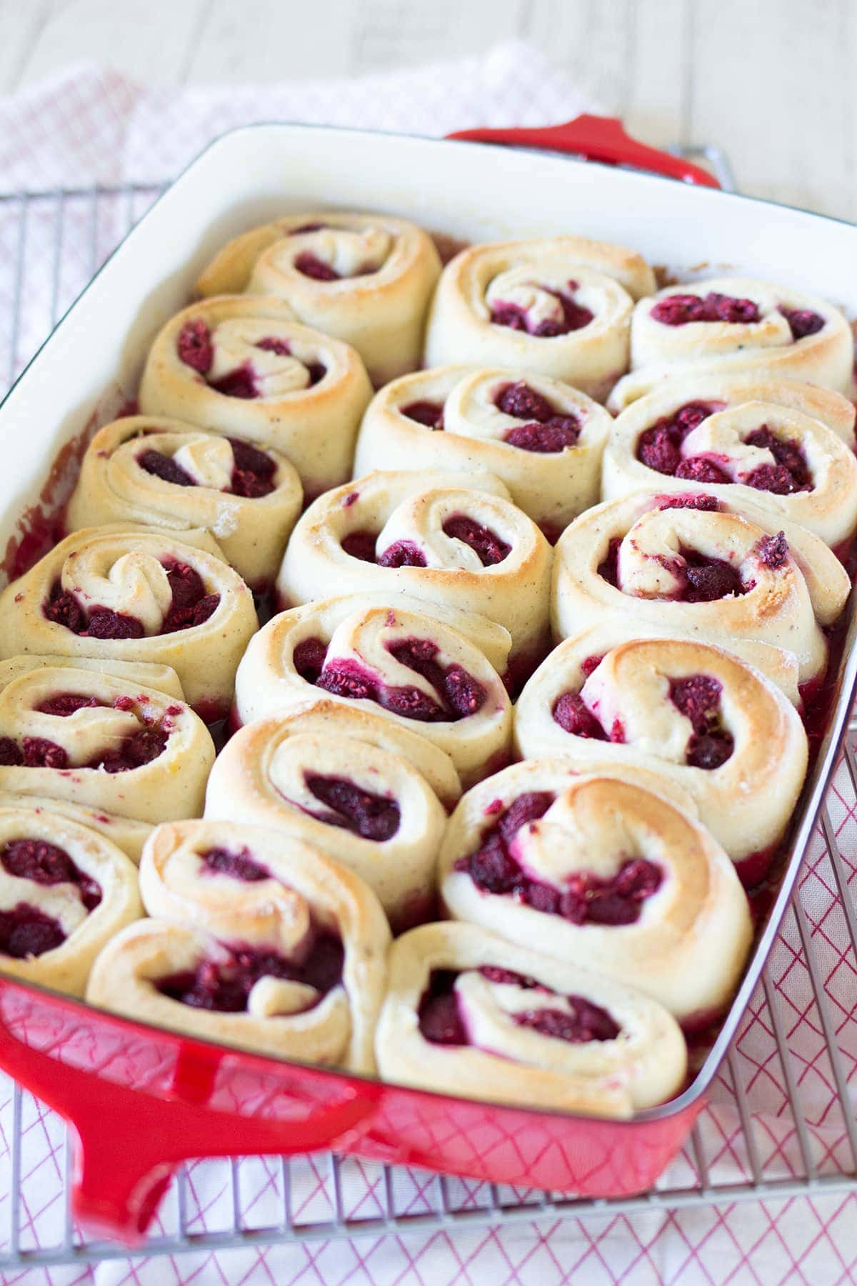 Raspberry Lemon Sweet Rolls