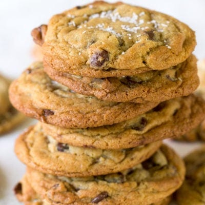 Salted Brown Sugar Chocolate Chip Cookies