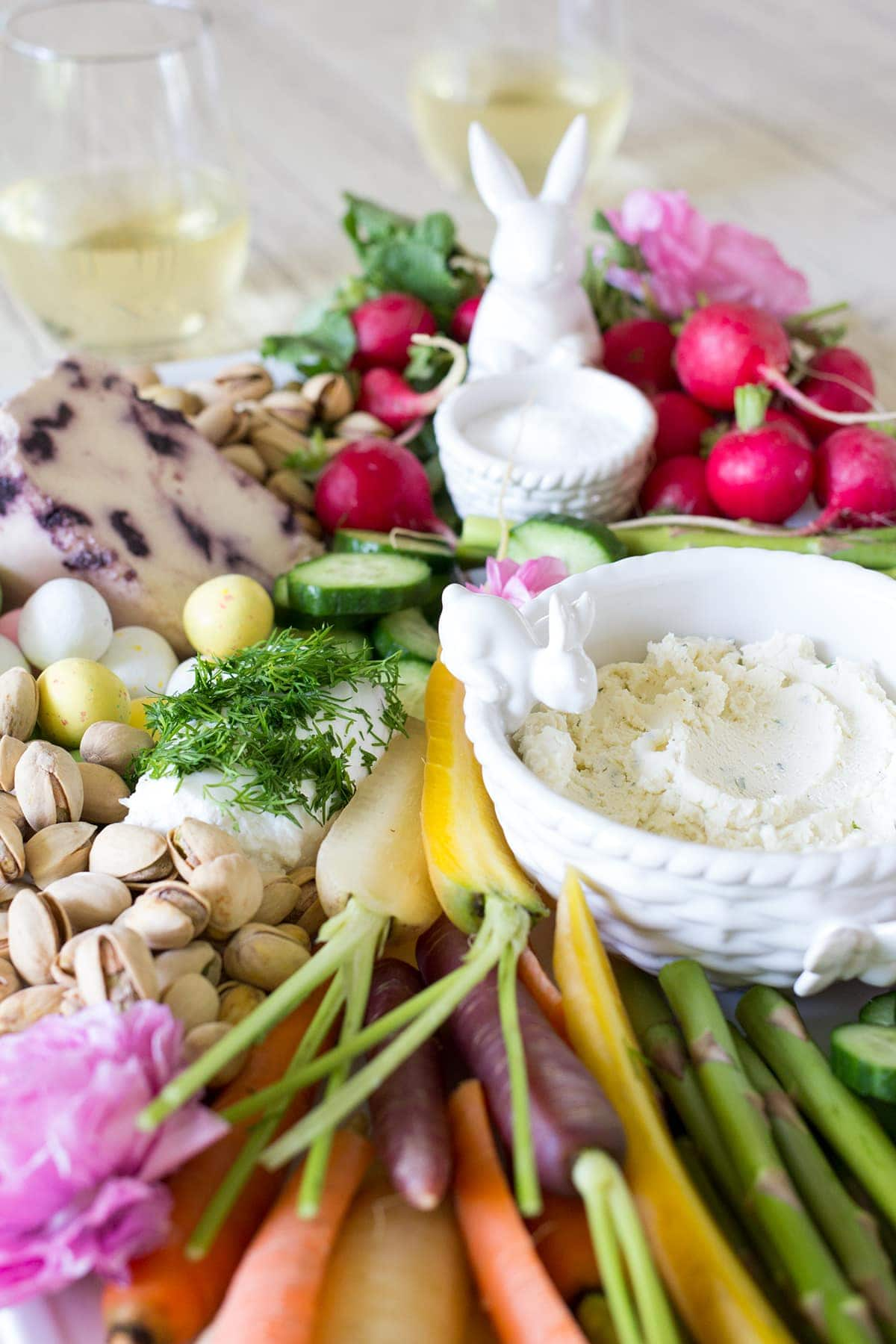 Easter Cheese and Crudite Board