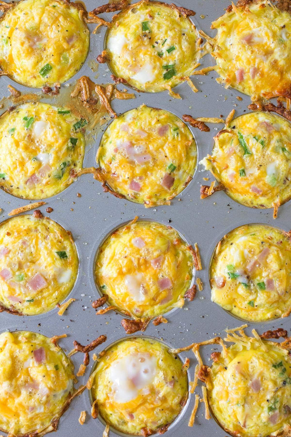 Leftover Easter Ham Breakfast Egg Nests